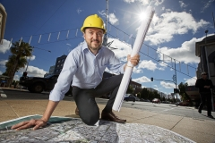 Revitalising Central Geelong interim project director Chris Padovani is excited about the range of works that will begin in the city in 2017 (Geelong Advertiser).